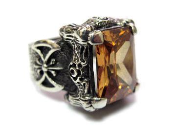 Перстень мужской из серебра TNR22-02Ct